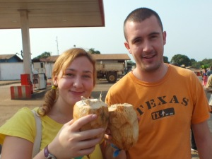 Sampling the local produce and not a plantain in sight