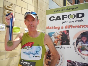 Dr Clive Kelly ran for CAFOD in his 30th Great North Run