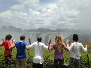The gap year volunteers in Zimbabwe