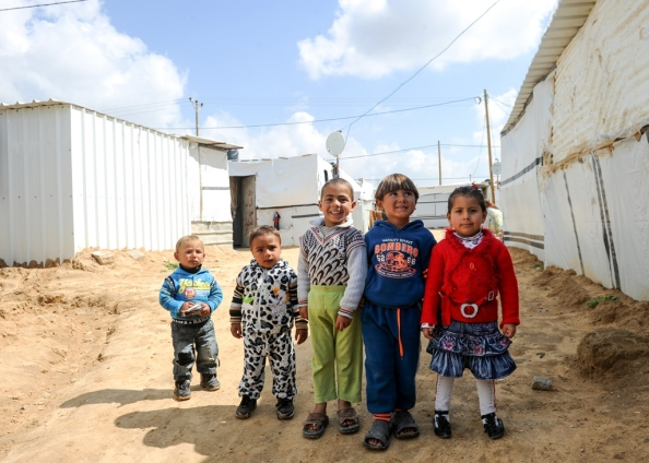 Children playing in a refugee camp. Palestine Shareef Sarhan/CAFOD